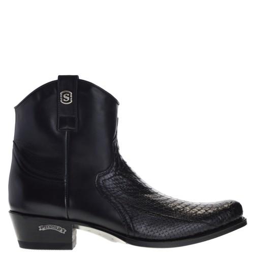 12830p-dier-riding-heren-western-boots-zwart-python