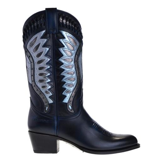 12860-debora-nl-dames-cowboylaarzen-blauw