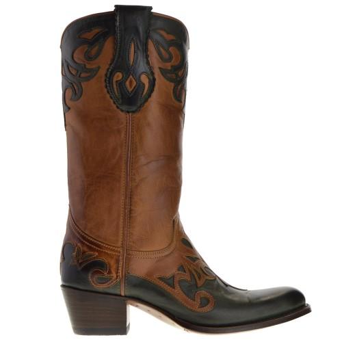13594-debora-nl-dames-cowboylaarzen-naturel