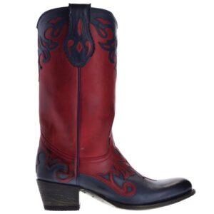 13594-debora-nl-dames-cowboylaarzen-rood-zwart