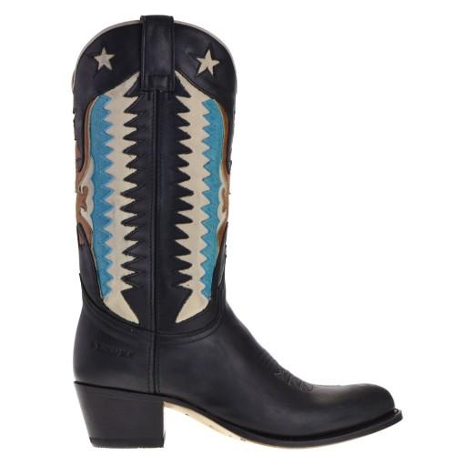 14145-debora-nl-dames-cowboylaarzen-zwart