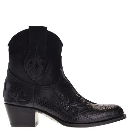 14484p-debora-nl-dames-western-boots-zwart-python