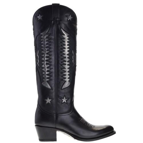 15186-debora-nl-dames-cowboylaarzen-zwart