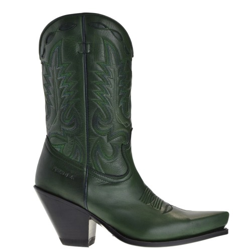 15651-gorca-dames-cowboylaarzen-groen