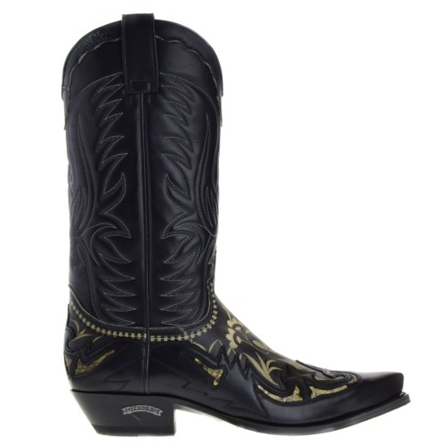 15675-cuervo-heren-cowboylaarzen-zwart-wit