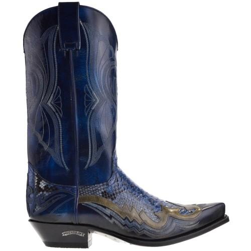 Sendra 6882P Cuervo Denver Cowboylaarzen Blauw