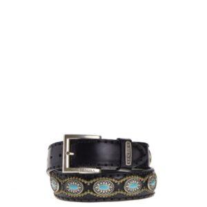 7605-dames-riemen-zwart-turquoise