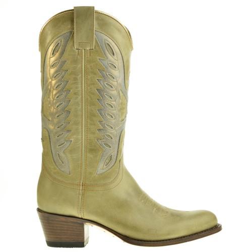 8850-debora-dames-cowboylaarzen-groen