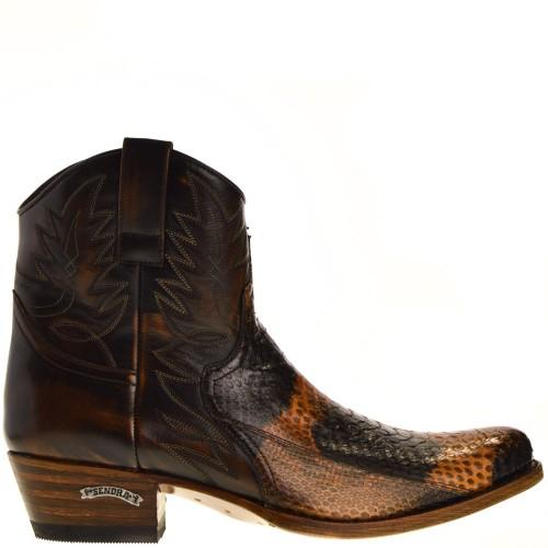 9469p-dier-heren-western-boots-bruin-python