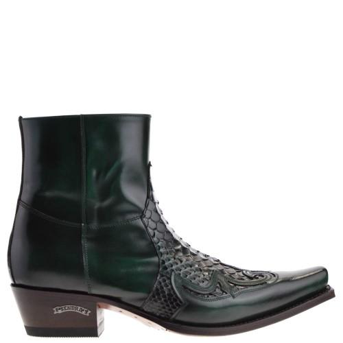 9918p-mimo-flora-verde-heren-western-boots-groen-python