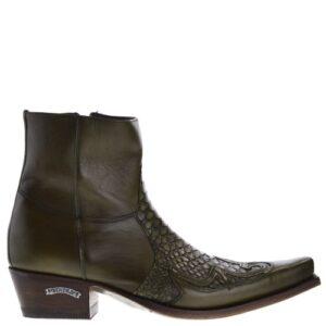 9918p-mimo-heren-western-boots-groen