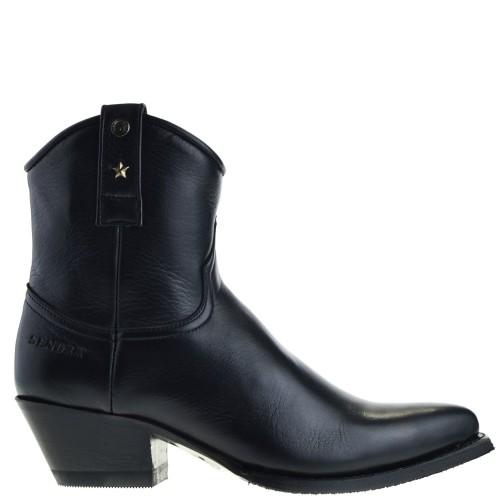 sendra-boots-15964-lia-dames-western-boots-zwart