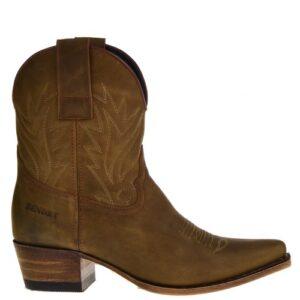 16954 Gene Berdy dames western boots naturel.