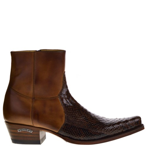 5701P Mimo Riding heren western boots cognac